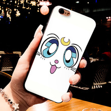 Sailor Moon Black Soft Phone Case for iPhones