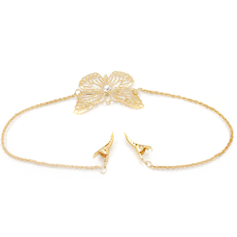 Bohemian Hair Jewelry Vintage Gold Color Metal Butterfly Headband Tassel Hair Band Head Chain Headpiece For Women Accessories
