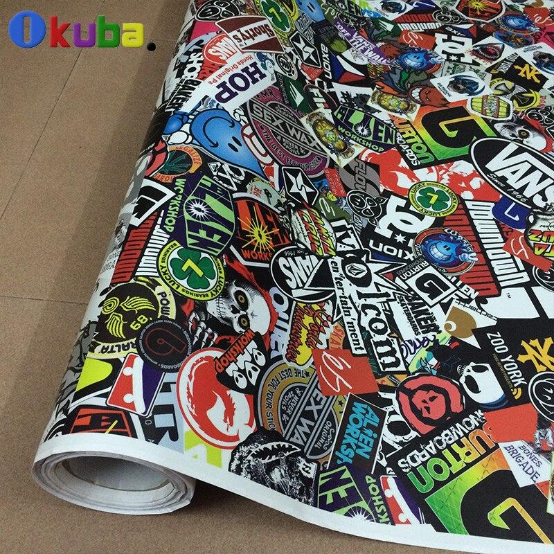 US $214 56 28% OFF|Premium Stickerbomb Cartoon Graffiti Racing jdm Sticker  Bomb Sheet Vinyl Wrap Car Sticker for Cars 1 52m*30m-in Car Stickers from