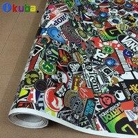 Premium Stickerbomb Cartoon Graffiti Racing jdm Sticker Bomb Sheet Vinyl Wrap Car Sticker for Cars 1.52m*30m