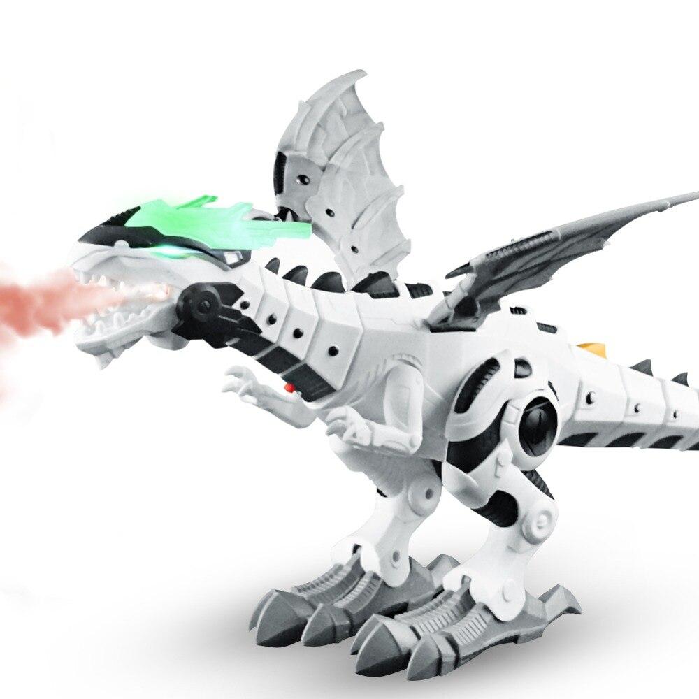 White Spray Electric Mechanical Dinosaur Toys Intelligent Dragon Model Pterosaurs Dinosaur World Toy Children Kids Toys