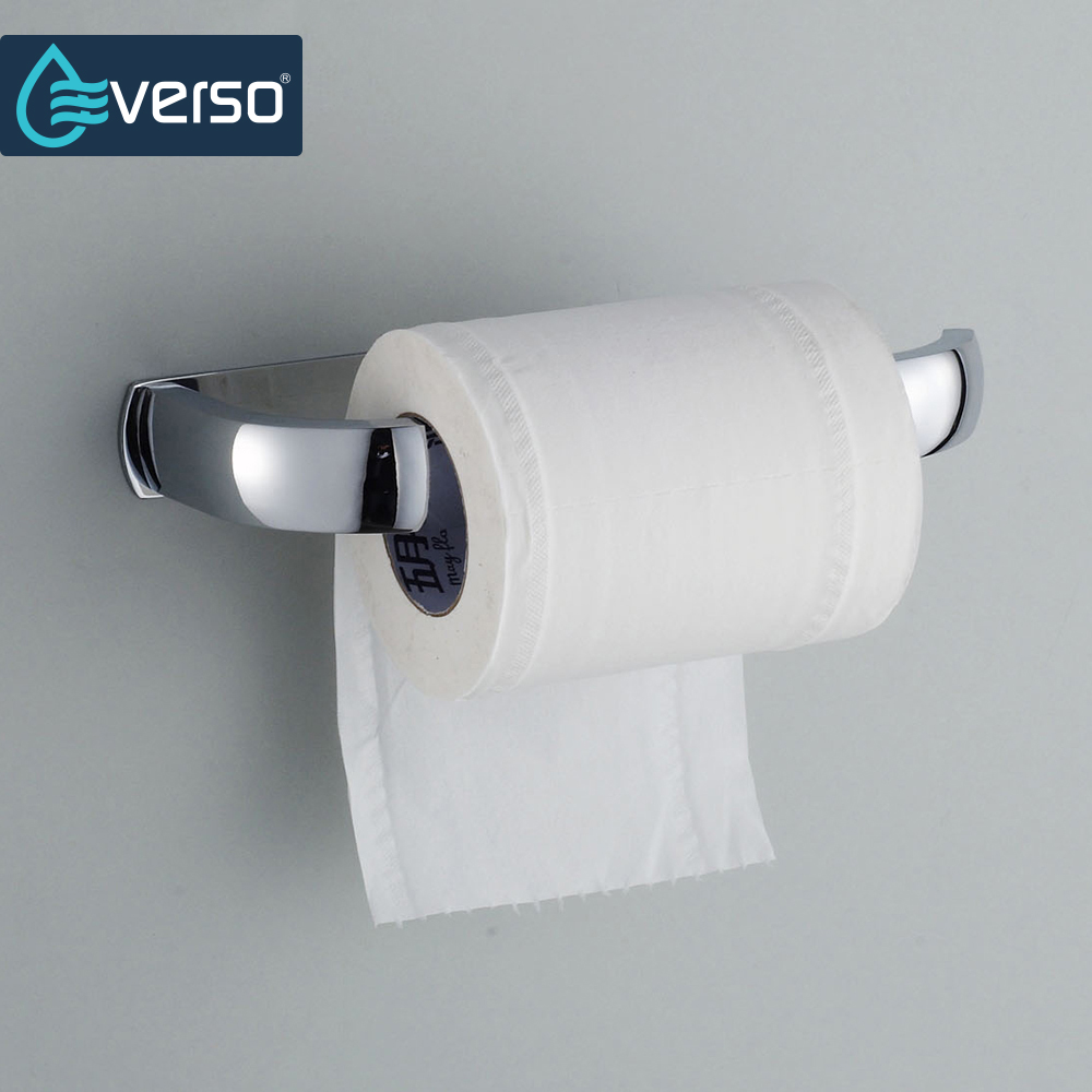 EVERSO Stainless Steel Toilet Paper Roll Holder Wc Paper Hold Toilet Roll Holder Wall Mounted by Nails Bathroom Accessory stainless steel toilet paper holder papier toilette encastrable wall mount wc paper holder bathroom roll paper holder basket