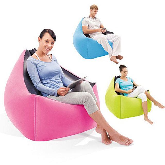 Venta caliente Fast Laybag Aire Sillón Portátil Intex Aire Moderno Sofá Muebles Juego de Sala Perezoso Sofá inflable Silla