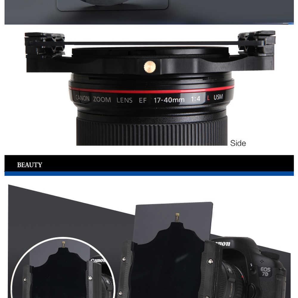 Walking Way 100mm ND filtro cuadrado de cámara soporte y anillo adaptador para Cokin lee Nisi Zomei 100*100 100*150mm filtro