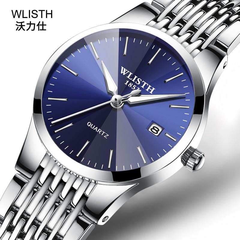 WLISTH Watch Women Men Couple Watch TOP Brand Luxury Luminous Men's Watches Clock Relogio Masculino Reloj Hombre Reloj Mujer
