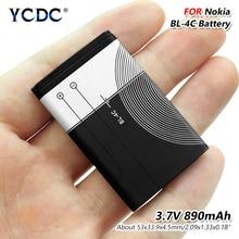 Rechargeable 3.7V Volt BL-4C 890mAh BL 4C BL4C Li-ion Lithium Battery For Nokia 6300 6301 6102i 6170 6260 1202 1265 1325 1506 стоимость