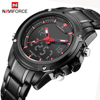 NAVIFORCE Top Luxury Brand Men S Quartz Watches Full Steel LED Analog Digital Military Sport Watch