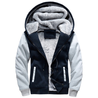 Winter Hoodies Sweatshirt Moletom Men S Causal Thick Fleece Baseball Uniform Zipper Sportswear Men Patchwork Tracksuit