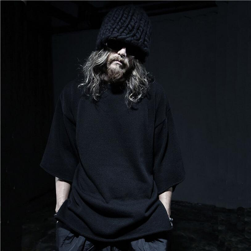 lager size men clothing Free shipping the new Korean version of men 's new loose fashion coat  S-3XL