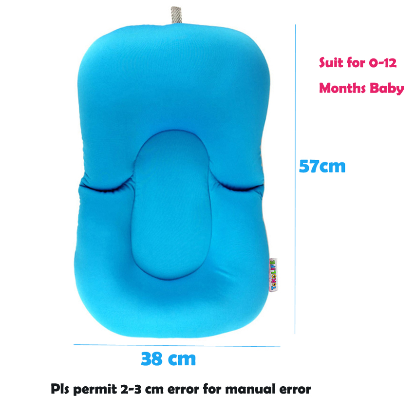 Non slip Bath Baby Bath Mat Foldable Bathtub Seat Soft Liner Infant ...