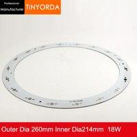 142 pçs/lote DIY Luz 18 W Alumínio PCB Placa de Circuito da Placa do PWB de Alumínio 18*1 w 2 w 3 w LEDS de Luz DIY PCB|Lâmpada de radiadores| |  -