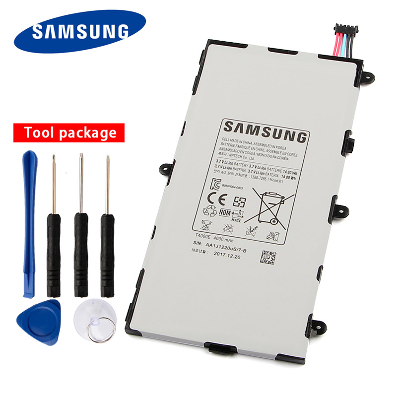 Original Samsung <font><b>T4000E</b></font> Tablet Battery For Samsung GALAXY Tab3 7.0 T2105 T217a T210 T211 4000mAh image