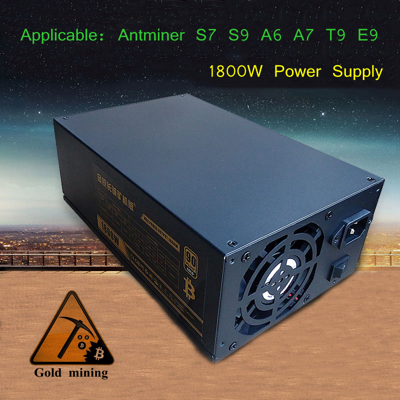 PC Power Supply 1800W Asic Bitcoin Miner Computer ATX Server PSU For Antminer S7 S9 A6 A7 T9 E9 D3 X3 Mining Machine source