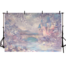 Vinyl Photography Backdrops happy Birthday Photo Background 5x7ft backdrops Child Photography studio Fairy Tale Vintage Castle 5x7ft kate retro dark wooden photography backdrops children background photography vintage scenic photography backdrops