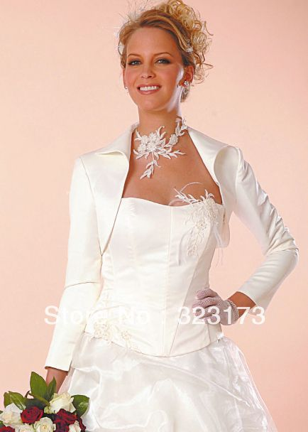 New Style White Long Sleeve Shawl Bridal Shrug Wedding