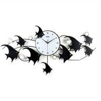 Large Watch Wall Clock Silent Wrought Iron Decorations Art Clock Klokken Livingroom Bathroom Music Room Wall