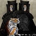 3 unids Tigre Animales de Dibujos Animados 3D Juego de Cama Colcha Cama de Calidad Superior hoja de Niños Niños Funda Nórdica Reina Rey Tamaño de cama edredón conjunto