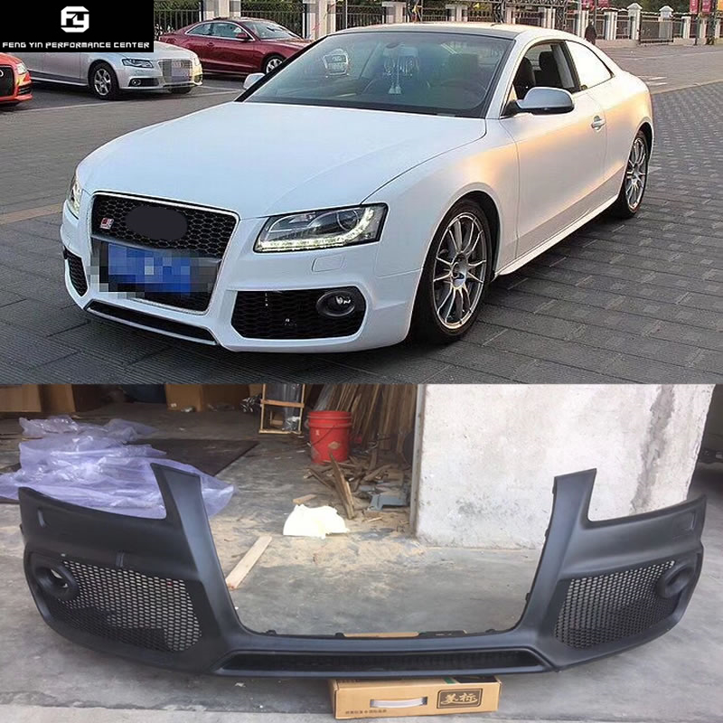 A5 Coupe PP Auto Front Bumper front racing grills For Audi A5 coupe Caractere style car body kit 08 12