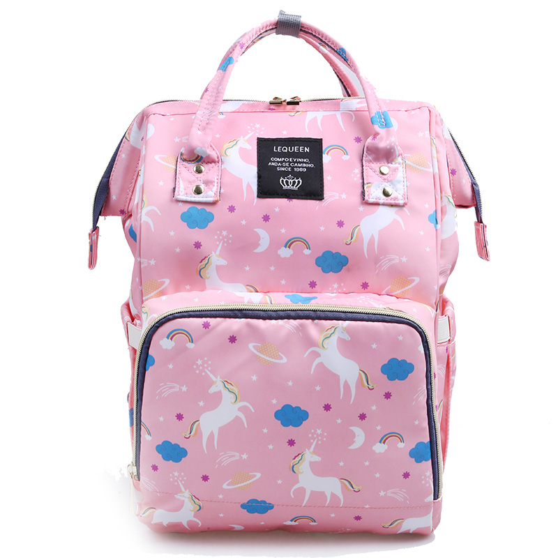 HTB1k2mnaLfsK1RjSszgq6yXzpXaI Baby Diaper Bag Unicorn Backpack Fashion Mummy Maternity Mother Brand Mom Backpack Nappy Changing Baby Bags for Mom