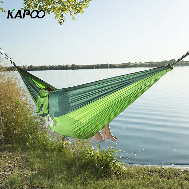 Outdoor Leisure Outdoor Hammock Portable Parachute Hammock Outdoor Furniture Garden Swing Chair Double Camping Hammock Gift hammock light outdoor garden hammock porch swing chair