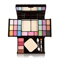 Brand New Makeup Set 18 Color Eyeshadow Lip Gloss Blush Powder Facial Contour Makeup Palette Nake Cover with Mirror Brush Puff