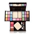 Novo Conjunto de Maquiagem 18 Color Eyeshadow Lip Gloss Blush pó Facial Contour Makeup Palette Nake Tampa com Espelho Escova sopro