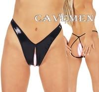 Leatherwear Open crotch * 1795 *Ladies Thongs G string Underwear Panties Briefs T back Swimsuit Bikini Free Shipping
