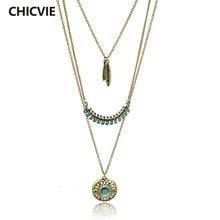 f3277e92ceb1 CHICVIE bohemio largo color oro de collares y colgantes para las mujeres  Boho Vintage declaración Colar étnicos de joyería de al.