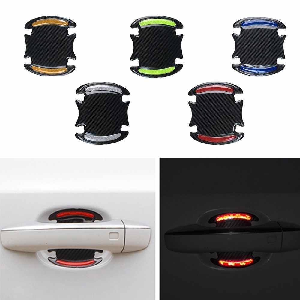 Автомобильная Защитная Светоотражающая наклейка на машину из углеродного волокна, Защитная Наклейка на машину, бампер для двери, наклейка на край колеса, виниловая графическая наклейка