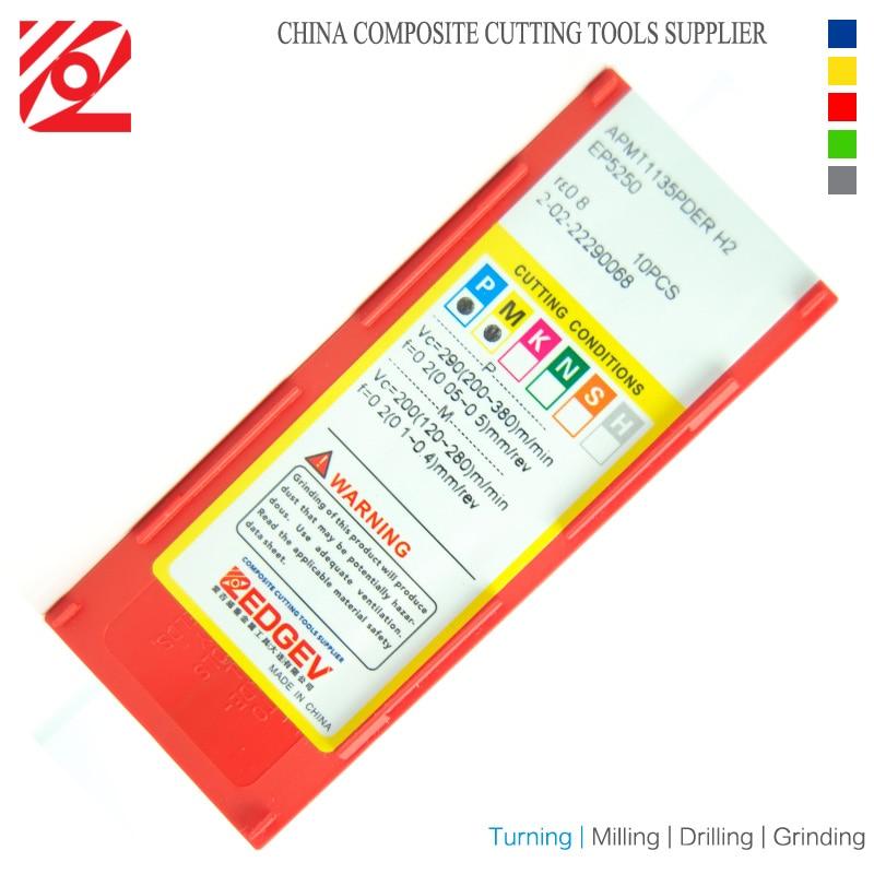 Купить с кэшбэком EDGEV APMT1604 PDER H2 EP5250 Milling Carbide Inserts for Indexable End Mill Cutter CNC Machine