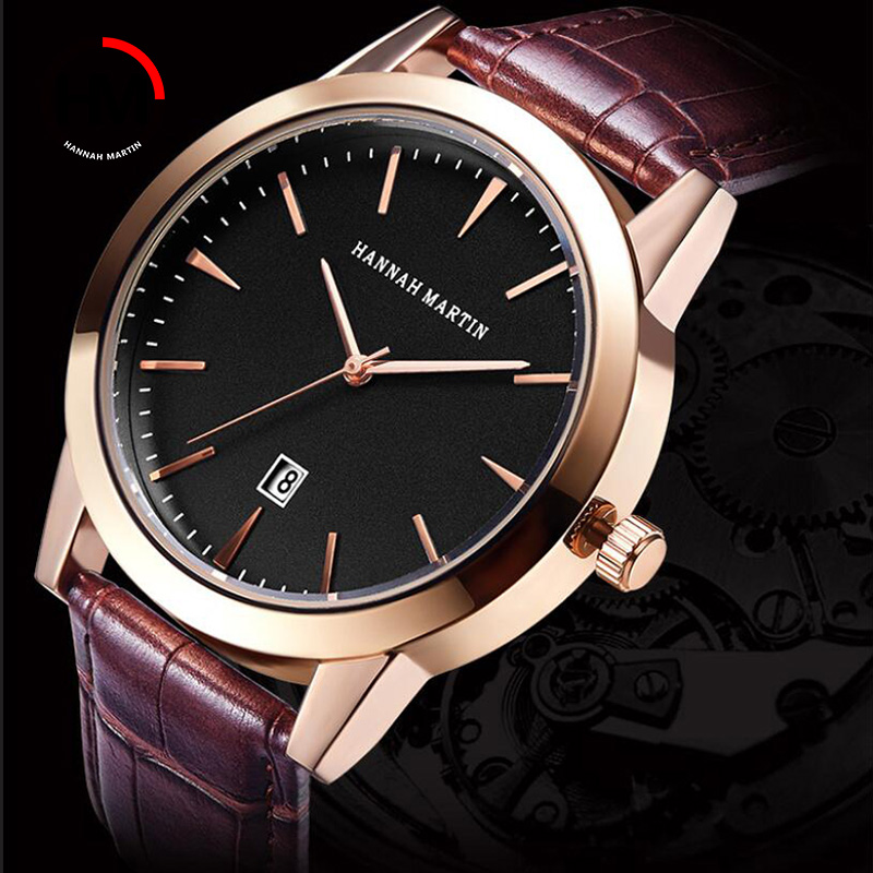 Men Wrist Watches Quartz Watch Men Top Luxury Brand Leather Business Male Watch Creative Calender Clock Relogio Masculino Xfcs sihaixin men watch de wood top brand red calender special watches for male with unique design all wooden clock man relogio