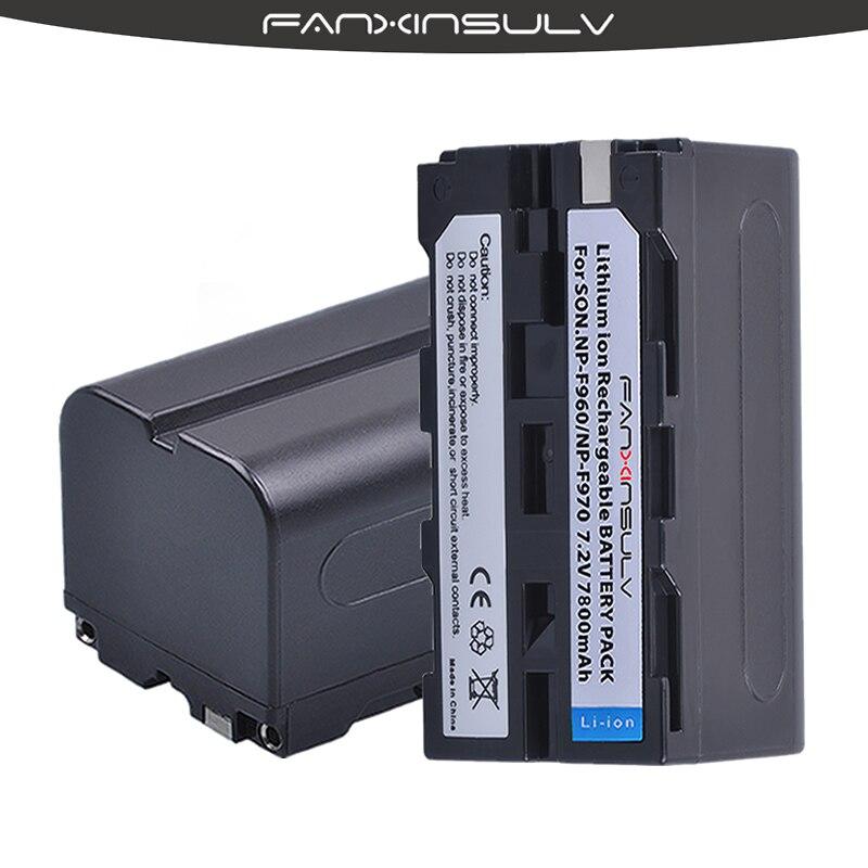 4 True capacity7800mAh NP F970 Batteries NP F970 F960 Battery For sony HXR NX3 dcrvx2100 hdrfx1 fx7 hd1000u hvrz1u pm092 mc2500 in Digital Batteries from Consumer Electronics