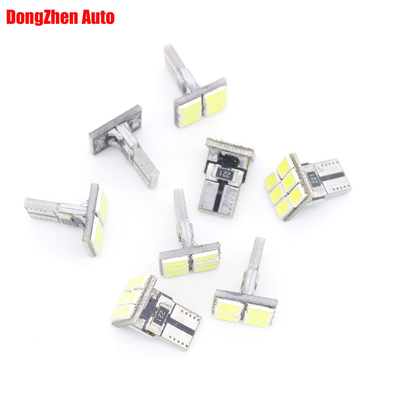 2X Car Headlights Error Free T10 W5W Canbus 6 Led w5w T15 W16W light Auto parking Fog light Indicator Lamp Door Bulb Xenon White high bright car headlights led bulb d33 h1 free canbus auto led white headlamp with yellow lights for vw jetta volkswagen golf 6
