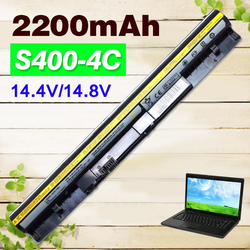 2200mAh Black Battery For Lenovo IdeaPad S300 S310 S400 S400u S405 S410 S415 4ICR17/65 L12S4L01 L12S4Z01 2200mah black battery for lenovo ideapad s300 s310 s400 s400u s405 s410 s415 4icr17 65 l12s4l01 l12s4z01