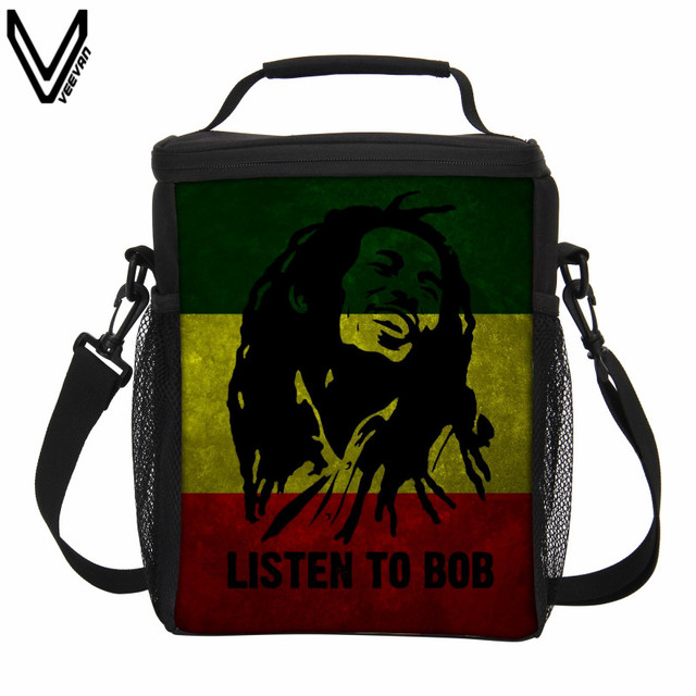 Veevanv 2017 New Casual Custom Bob Marley Lunch Bag Picnic Insulated Thermal Office Bags