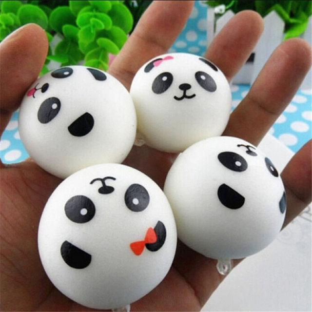 Soft Squishy Panda Shaped Phone Straps