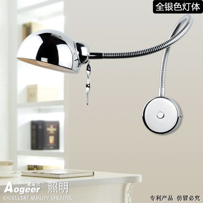 Modern minimalist creative arm wall lamp dimmer led bedside lamp bedroom lamp before the bathroom mirror lights switch connector american creative fashion led the study bedroom mirror before the long arm of the head of a bed wall lamp wrought iron long arm