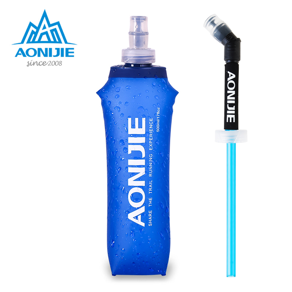 AONIJIE Outdoor Folding Soft Long Straw Outdoor Drinking Bottle Travel Sport Camping Hiking Water Bag 170ML 250ML 500ml Lahore