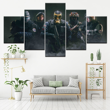 Canvas Painting Tom Clancys Rainbow Six Siege 5 Pieces Wall Art Modular Wallpapers Poster Print living room Home Decor