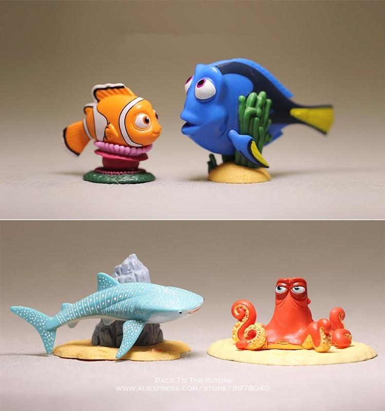 Disney Finding Nemo Dory 4 styles 4-5cm mini PVC Action Figure Posture Model Anime Collection Figurine Toys model for children 15 5cm anime figure lilo