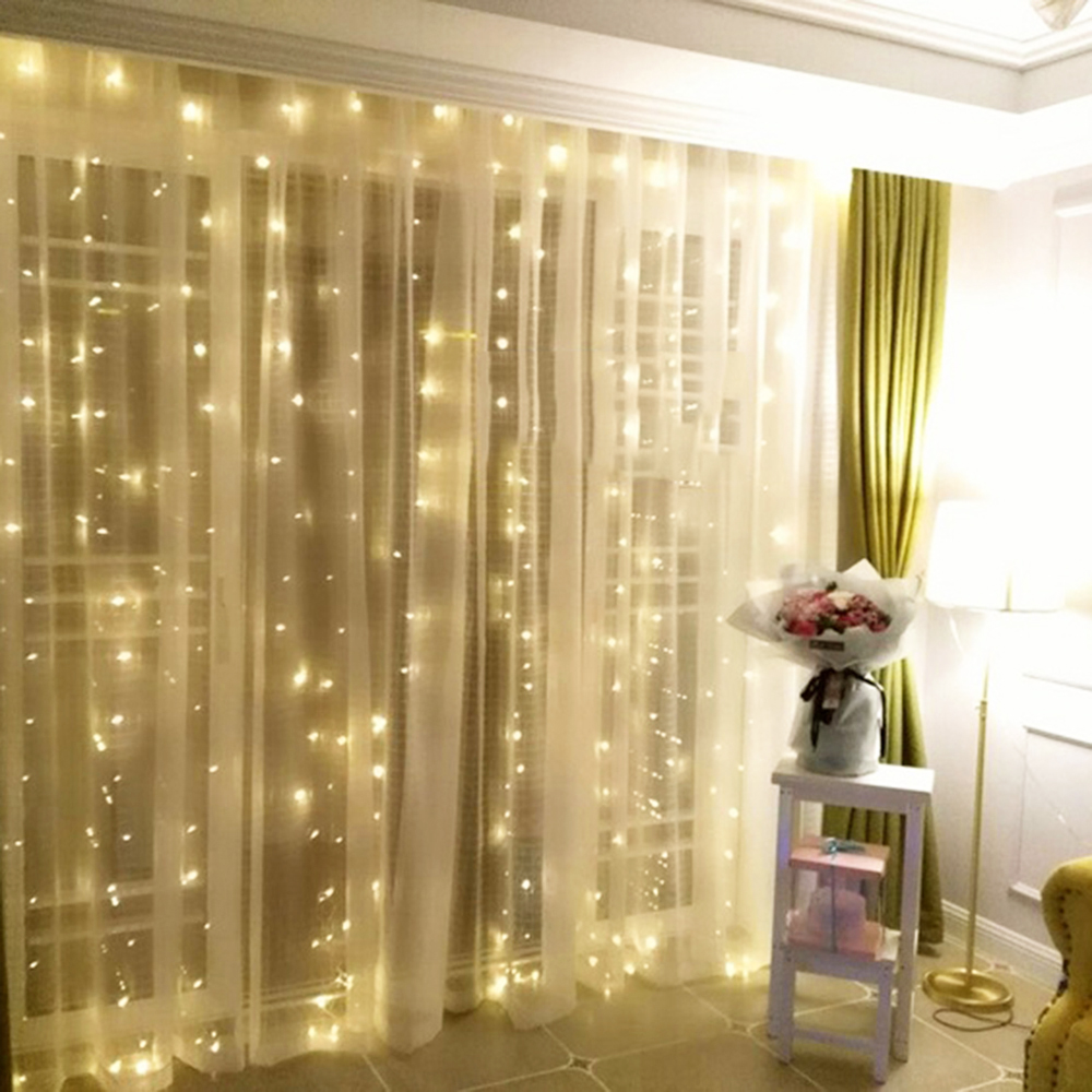 4.5*3Meter 300leds Curtain LED String Lights New Year Christmas Garlands Fairy Party Garden Wedding Decoration Fairy 4 Colors KL