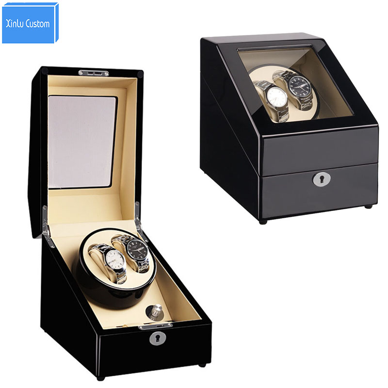 2+3 Grids 6 Colors Luxury Watch Winder Wood Box in Watch Winders for Automatic Watches Japan Mabuchi Motor Rotate Watches Case ultra luxury 2 3 5 modes german motor watch winder white color wooden black pu leater inside automatic watch winder