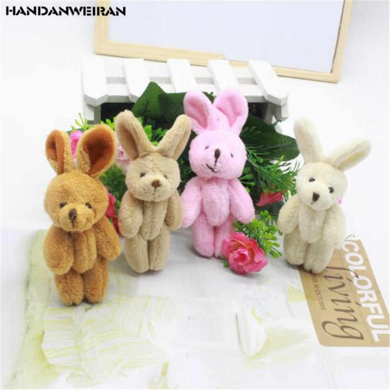1PCS Mini 8CM Plush Joint Rabbit Toys 4 Color Choose Small Pendant DIY Creative Soft Stuffed Bunny Toy Kids Activity Gifts New