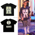 KOM kpop streetwear graphic tees men fashion hip hop black rock oversized t shirt mens designer clothes pink floyd justin bieber