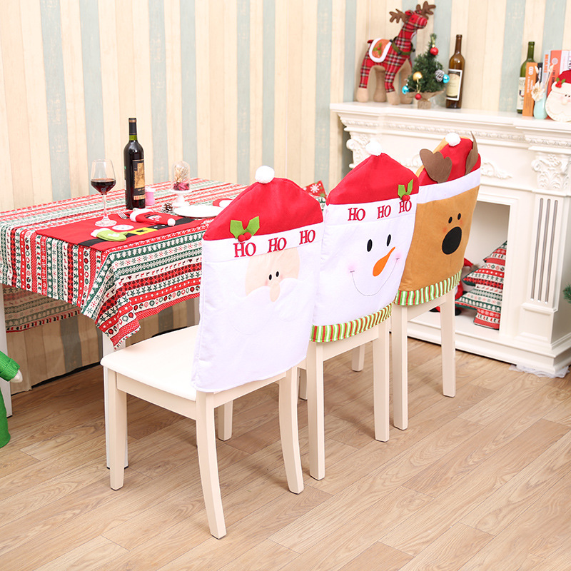 NEW Fashion Christmas Ski Chair Covers Decoration Supplies For Dining Table Home Party WholesaleChina