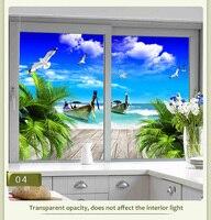 Настраиваемый размер статическая самоклеящаяся оконная пленка Privacy Frosted Home Decor стеклянные наклейки гостиная спальня