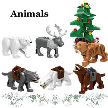 Animal Shark Horse Elepant Mammoth Action Figure Diy Christmas Tree Elk Deer Legoings Building Blocks Bricks Kid Toys Gifts(China)