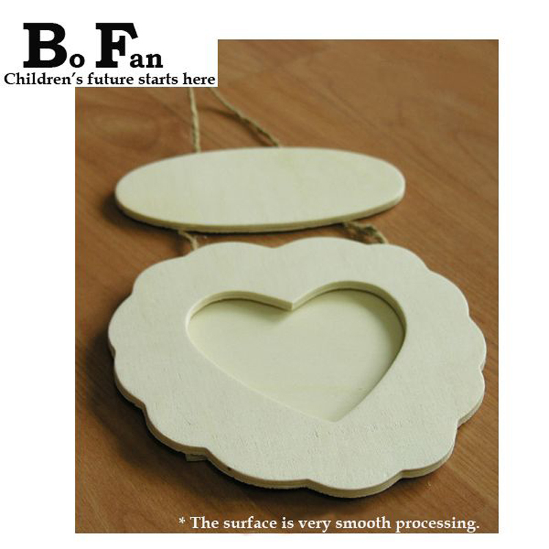 Heart Shaped Wooden Frames Diy Handmade Beautiful Gift For Small