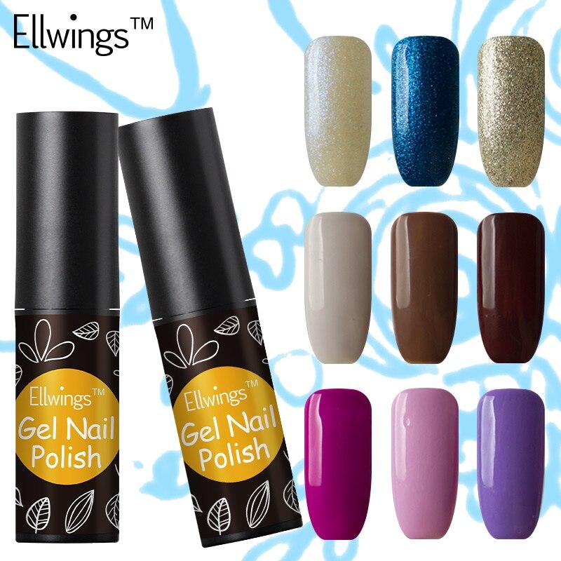 Ellwings Glitter Hybrid 29 Colors font b Nail b font Gel Polish Long Lasting Soak Off