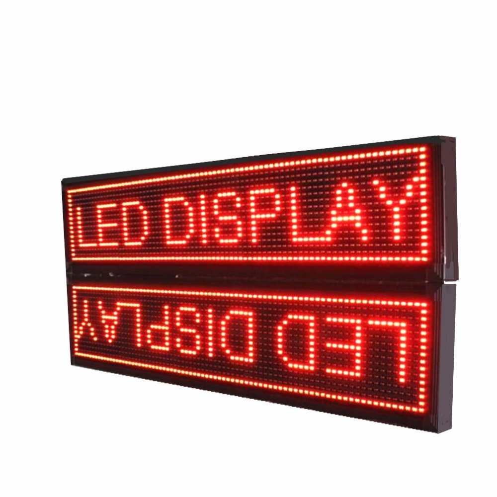 Outdoor P10mm Outdoor Double Sided Led Sign ,waterproof Programmable And  Multi-language Message Scrolling Action